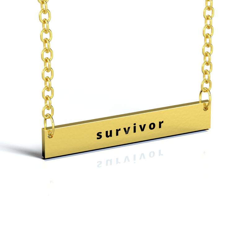 """SURVIVOR"" GOLD NECKLACE"