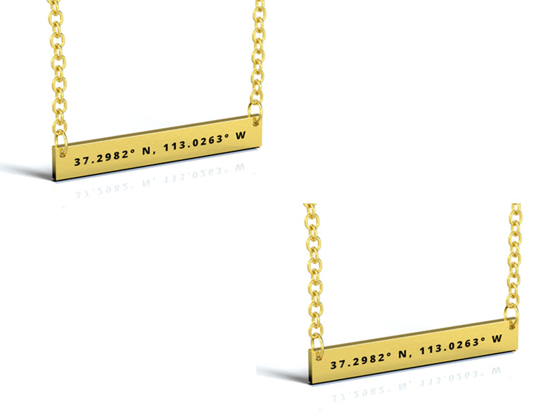 2X MATCHING GOLD BAR NECKLACE