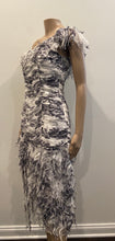 Load image into Gallery viewer, Renato Nucci Couture shredded trim dress