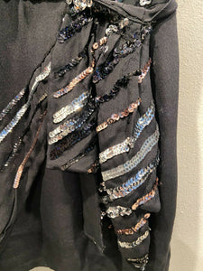 Marc Jacobs Sequin Party Asymmetrical shoulder dress xs 2/4