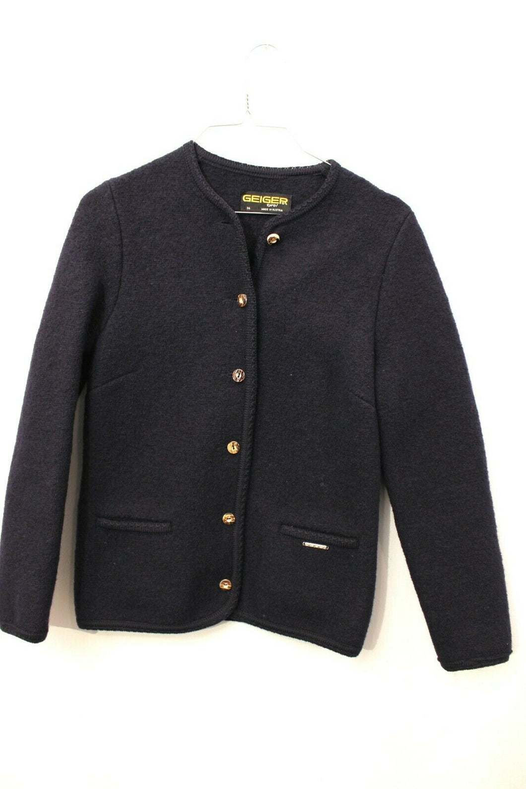 Geiger Tyrol Navy Cardigan Jacket in a Marked Size 36