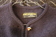 Load image into Gallery viewer, Geiger Tyrol Navy Cardigan Jacket in a Marked Size 36