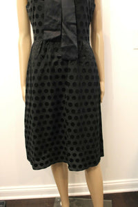Moschino Polka Dot Bow Little Black Dress