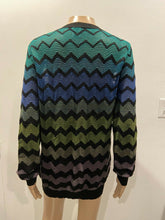 Load image into Gallery viewer, M Missoni Degrade Green Knit Cardigan Long Sweater
