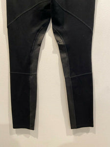 Rag & Bone Leather Panel Riding Scuba Legging Pants size 29