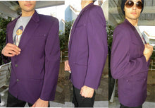 Load image into Gallery viewer, Claude Montana Purple Arrow Pocket Goth Jacket