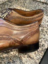 Load image into Gallery viewer, Francesco Benigno Brogue German Derby Dress Shoes size 10