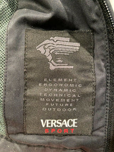Versace Sport Reflective Logo Tech Jacket Small
