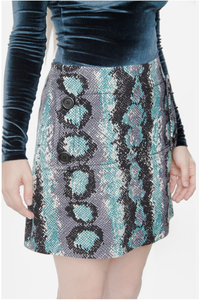 Prada Collection 2019 Snake Print Mini Pocket Skirt