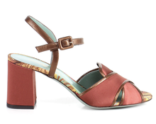 Load image into Gallery viewer, Paola D'Arcano Silk Block Heel Sandal