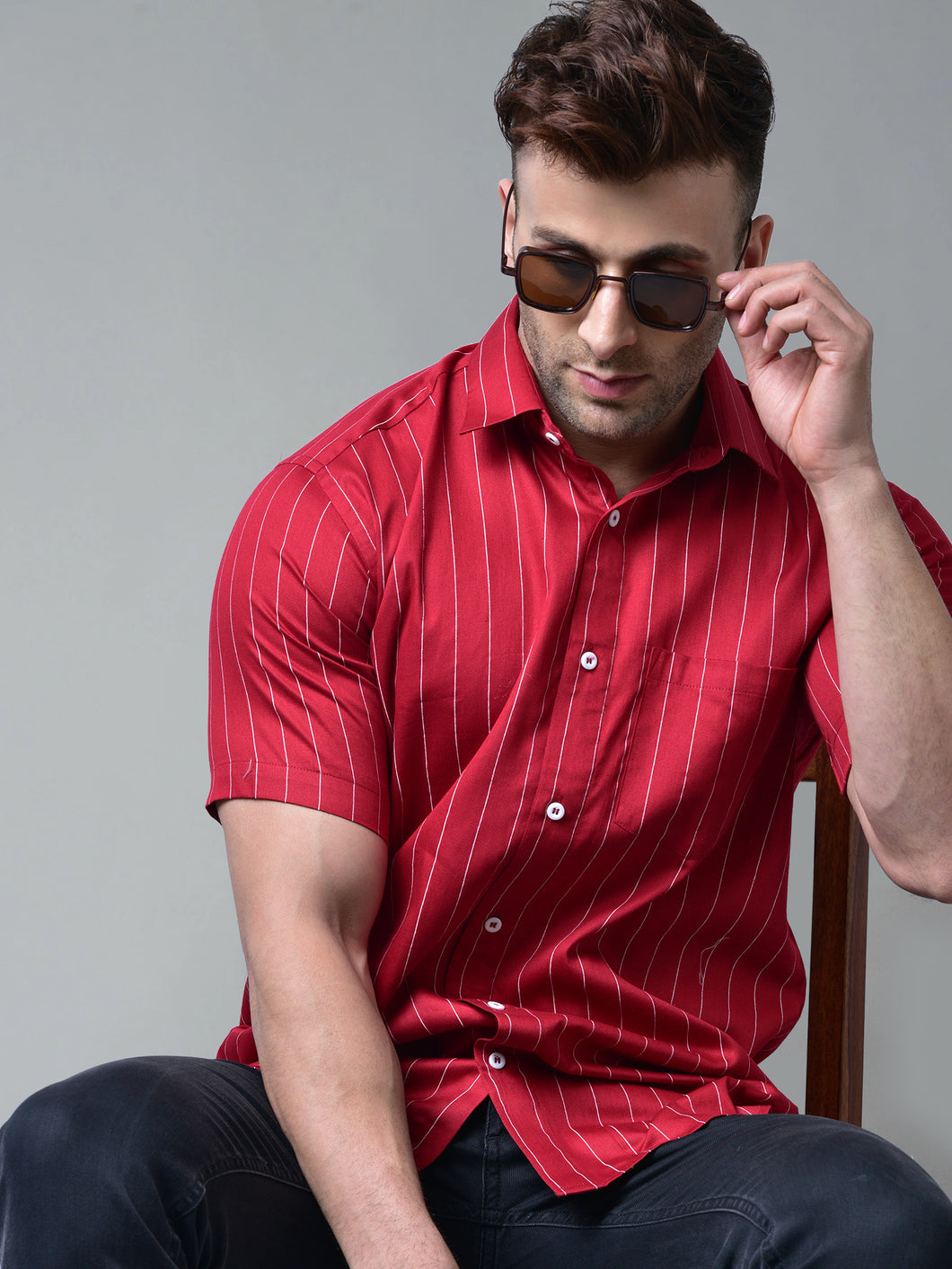 Red Stripes Shirt