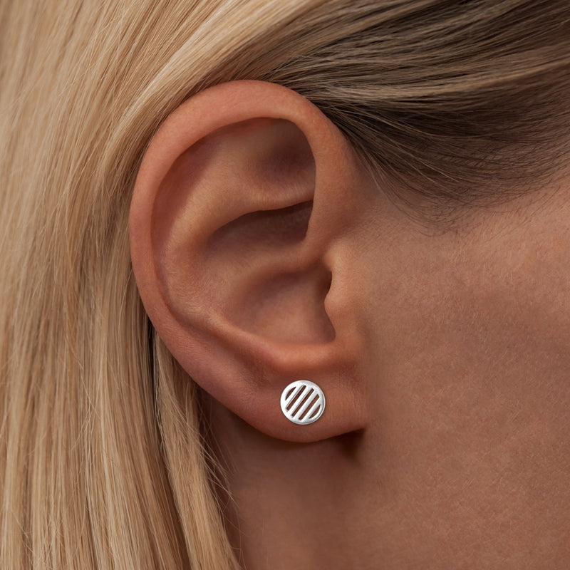 LULU Copenhagen LOLLY LARGE 1 STK Ear stud, 1 pcs Sølv