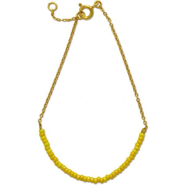 LULU Copenhagen STRING GOLD, bracelet Bracelets Gold with yellow seed beads