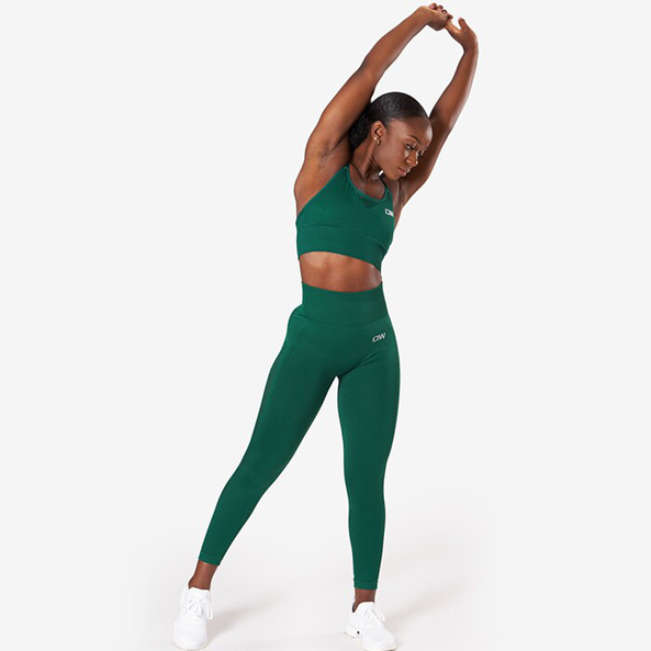 Dynamic Seamless 7/8 Tights, Forest Green