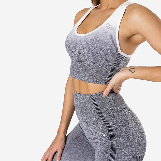 Ombre Seamless Sports Bra, Grey