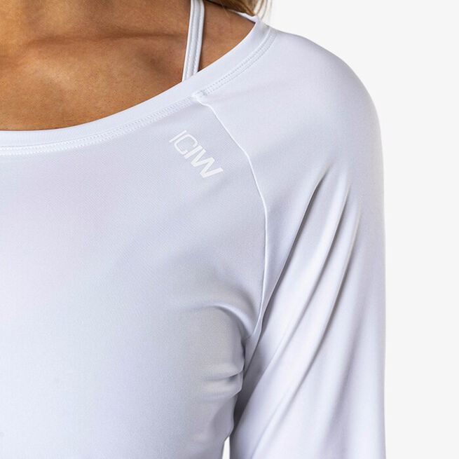 Contrast Long Sleeve, White