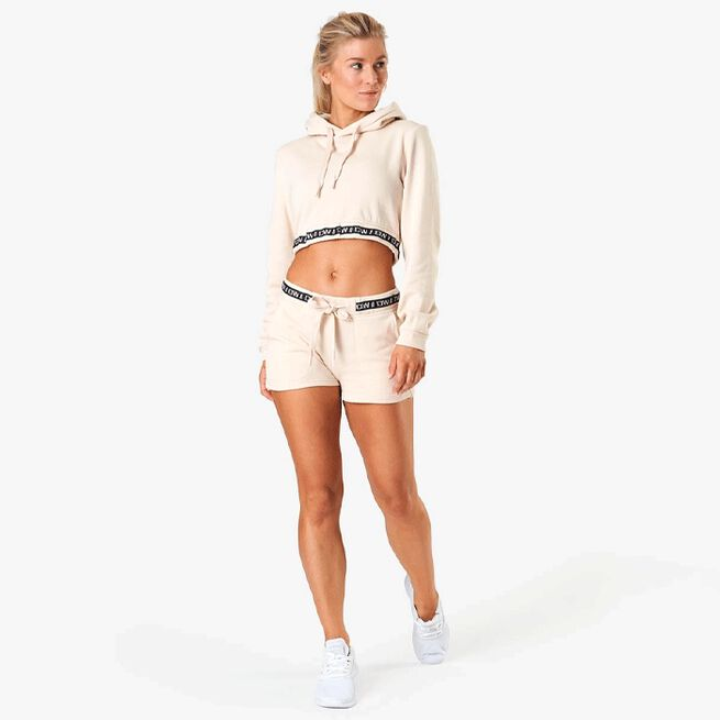 Chill Out Cropped Hoodie, Sand