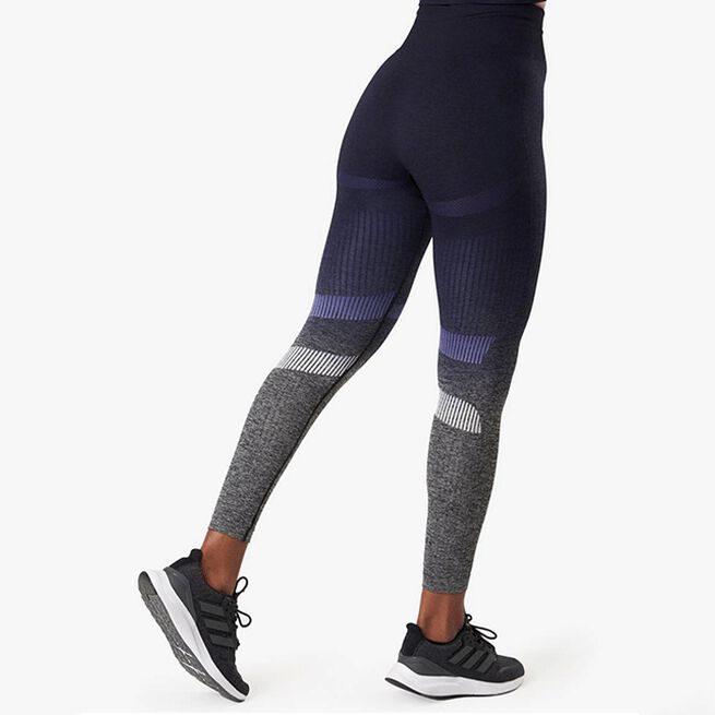 Ombre 7/8 Seamless Tights, Navy Melange