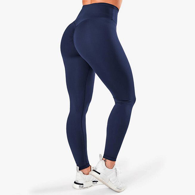 Scrunch V-Shape Tights, Navy