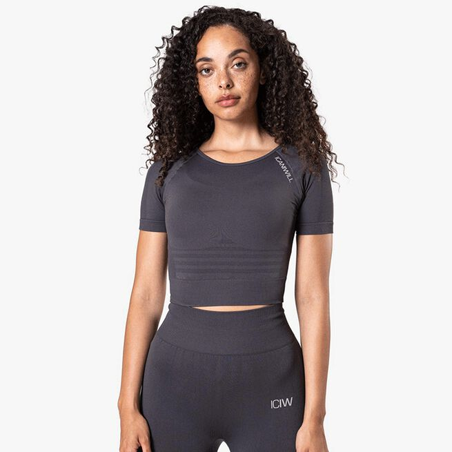 Define Seamless Cropped T-shirt, Graphite