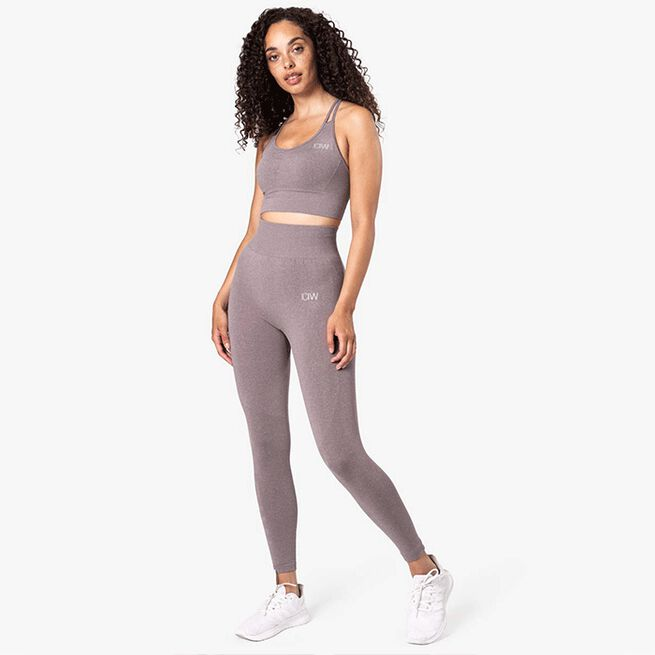Define Seamless Sports Bra, Faded Violet Melange