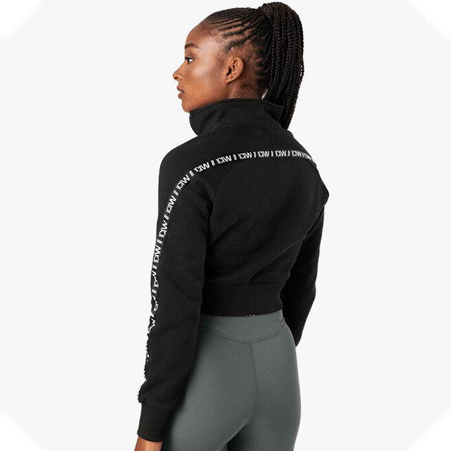 Essential Cropped Logo Sweater, Black