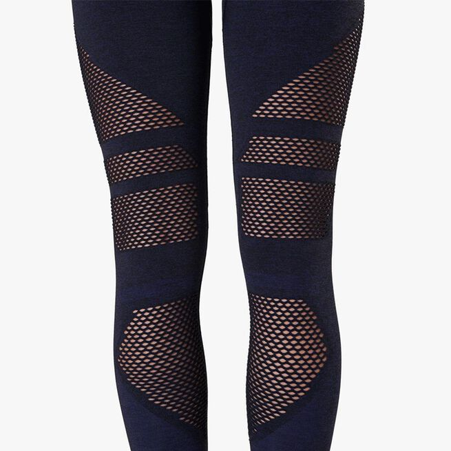 Queen Mesh Tights, Navy Melange