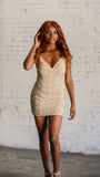 The Catalina Dress Beige