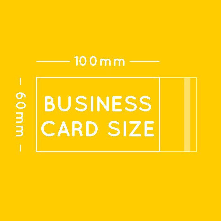60 x 100mm (fits business card)
