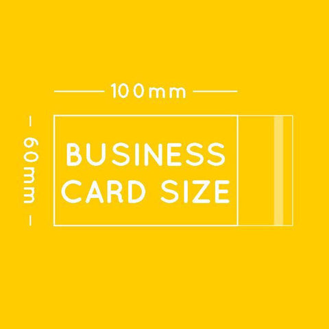 Business card or fridge magnet sized cello bag 6 x 10cm