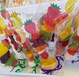 Fundraising idea - lolly kebabs in 70 x 250mm clear cello bags