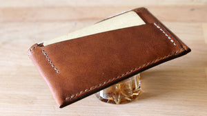 Brown Cowhide Card Wallet