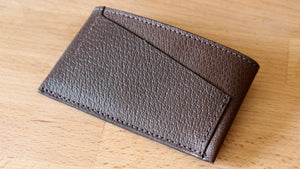 Brown Pigskin Card Wallet