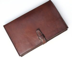 Brown Cowhide Refillable Journal