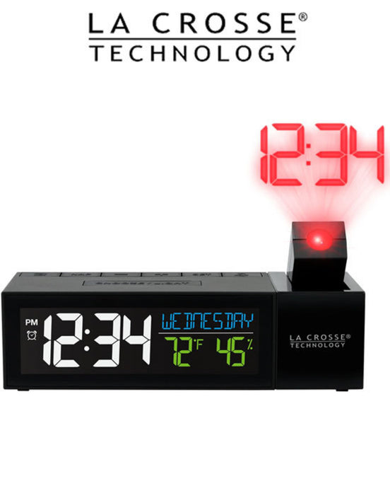 La Crosse Pop-Up Bar Projection Alarm Clock