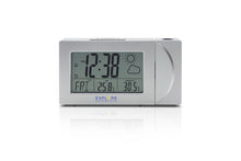 Load image into Gallery viewer, Explore Scientific Projection Radio Controlled Clock with Weather Forecast Display and Outdoor Sensor