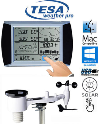 Tesa WS1081 Ver3. Complete Weather Station with Solar Panel & PC interface