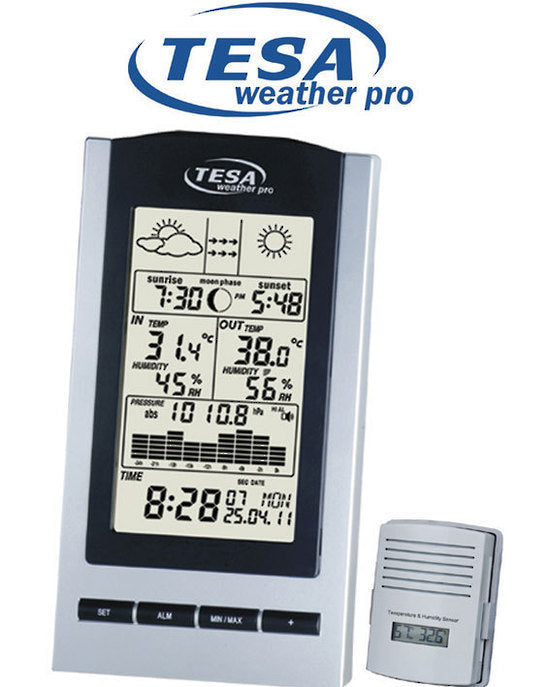 Tesa WS1151 - MOON PHASE WEATHER STATION BAROMETER