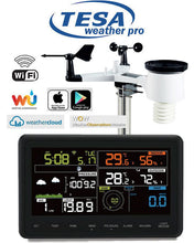 "Load image into Gallery viewer, Tesa WS-2900c PRO TESA Prof 7"" Colour WIFI Weather Station"