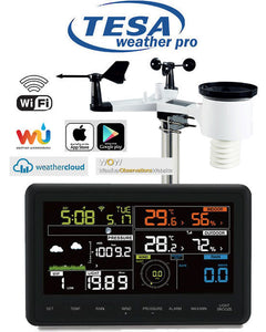 "Tesa WS-2900c PRO TESA Prof 7"" Colour WIFI Weather Station"