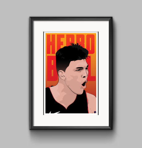 "Tyler Herro ""Herro Ball"" Digital Print"