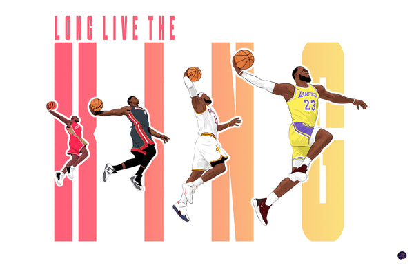LeBron James - Long Live the King Print
