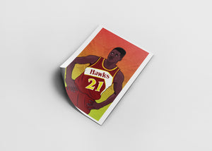 Atlanta Hawks - Past & Pesent - Dominique Wilkins [Digital Print]