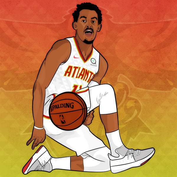 Atlanta Hawks - Past & Present - Trae Young [Digital Print]