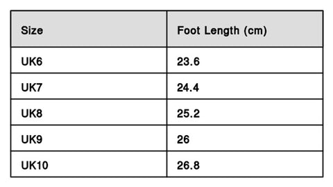 Shoes Size Chart