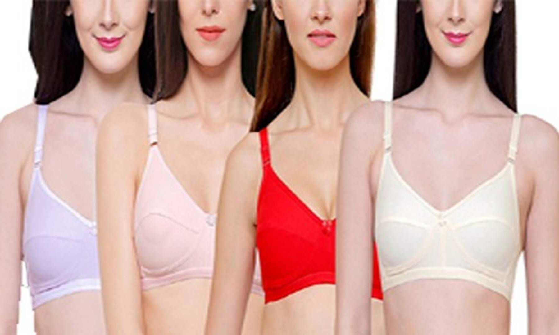 Trendy Solid Cotton Bras Combo Of 4