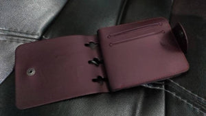 Elegant Brown Artificial Leather Solid Men's Two Fold Wallet