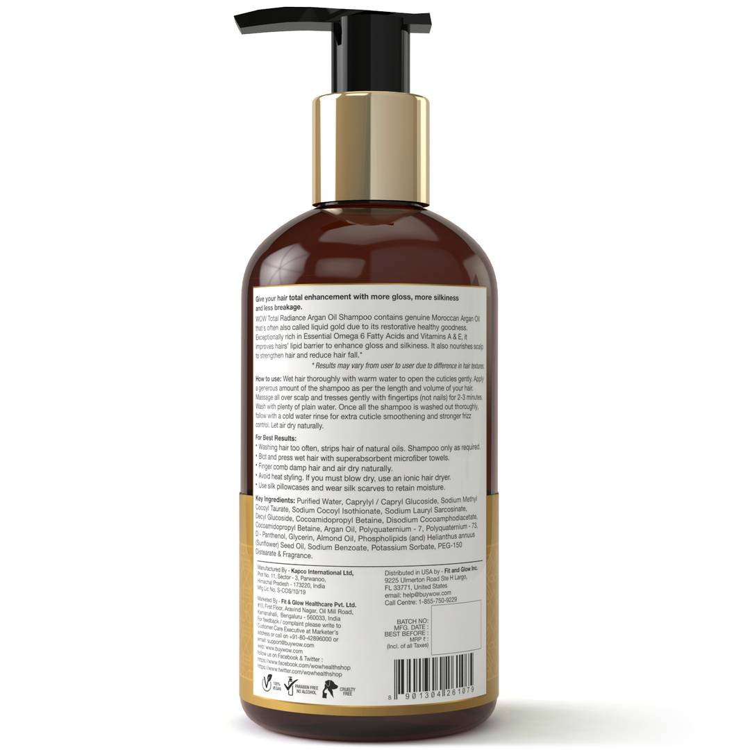 Total Radiance No Parabens, Sulphate & Silicone Shampoo - 300 Ml