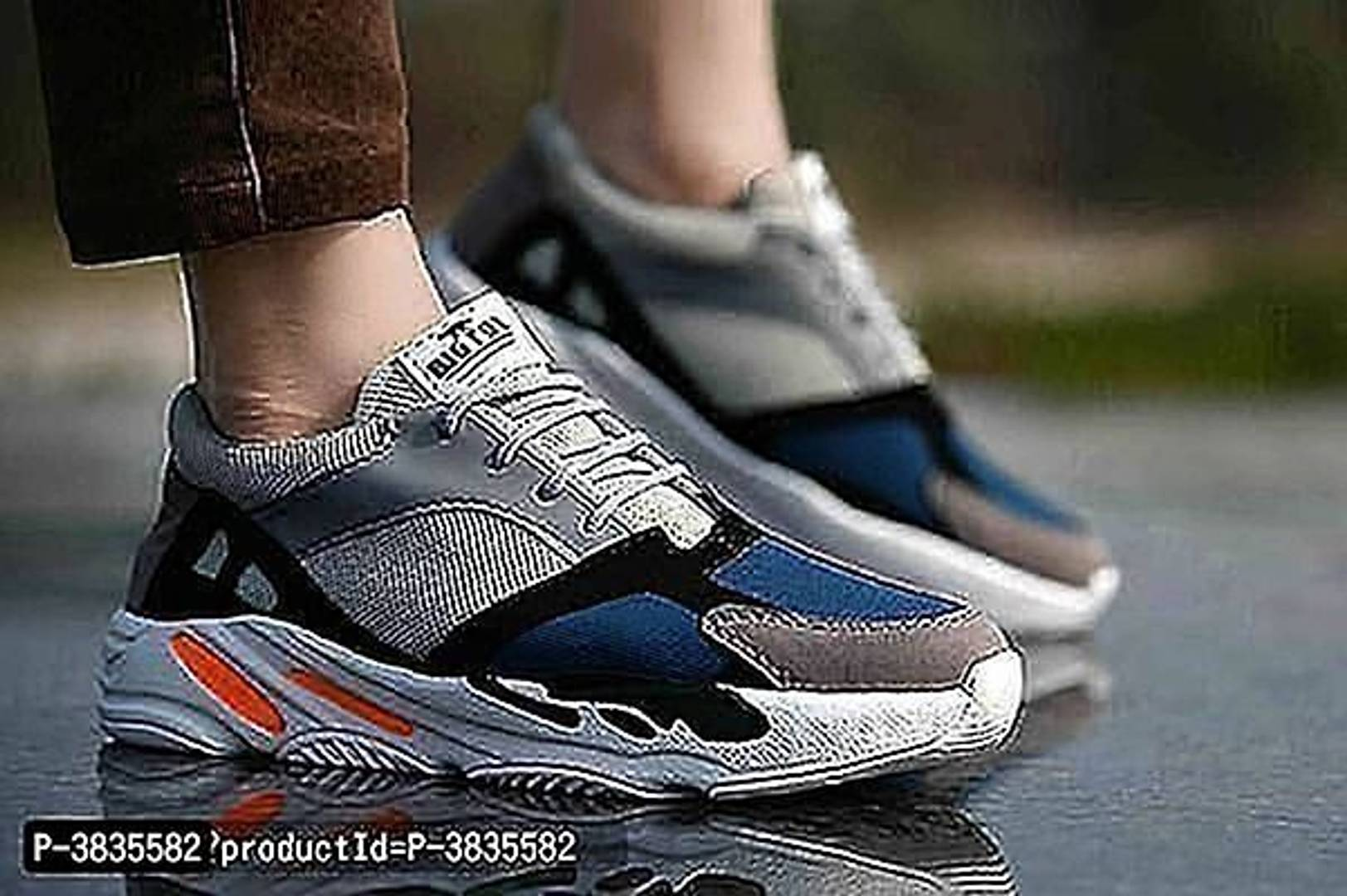 Elegant & Stylish Grey Mesh Sports Shoes For Men