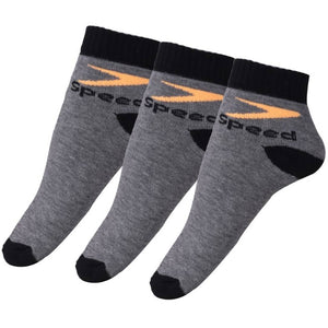 Cotton Ankle Length Socks (Free Size) - Pack of 3 Pairs